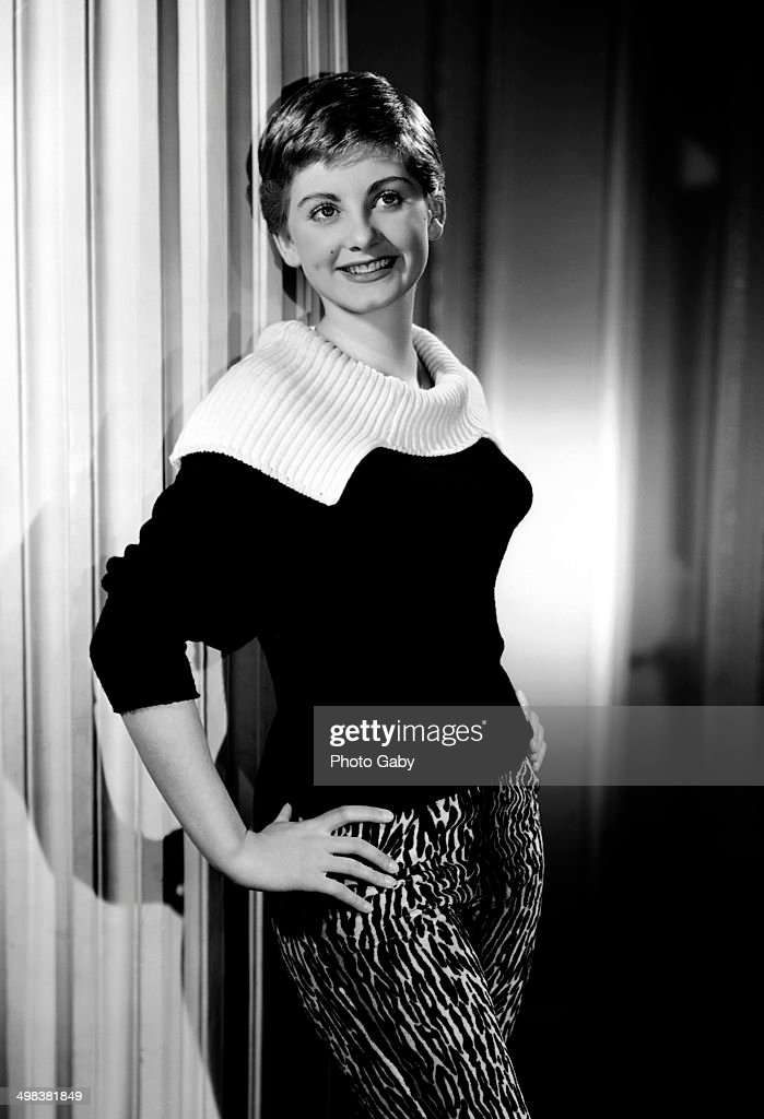 Actress Jill Ireland poses backstage after presenting