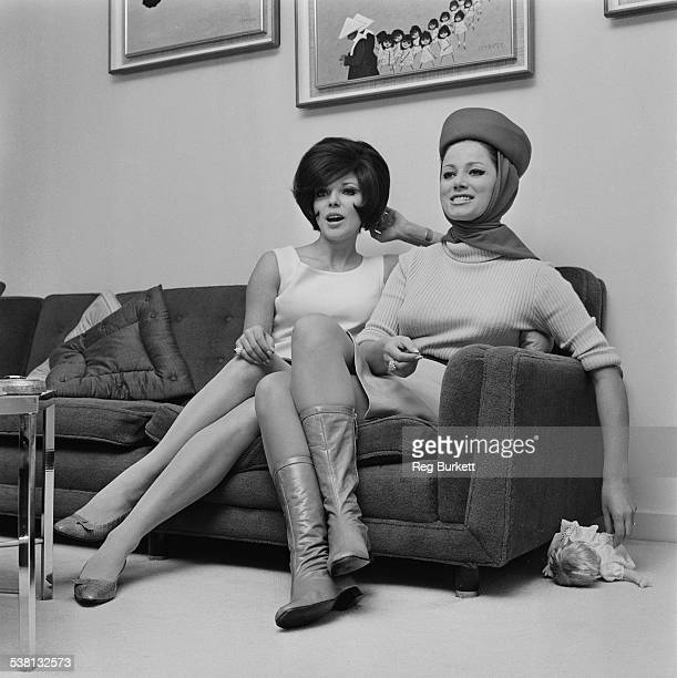 English actress Joan Collins and her sister English novelist Jackie Collins 8th January 1966