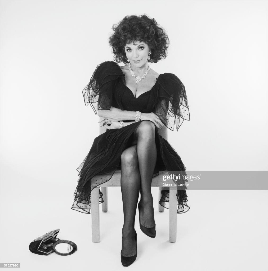 English actress Joan Collins, circa 1985.