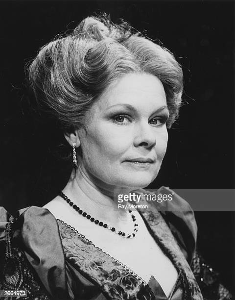 English actress Judi Dench appears in the Royal Shakespeare Company production of Harley Granville Barber's play 'Waste' at the Lyric Theatre