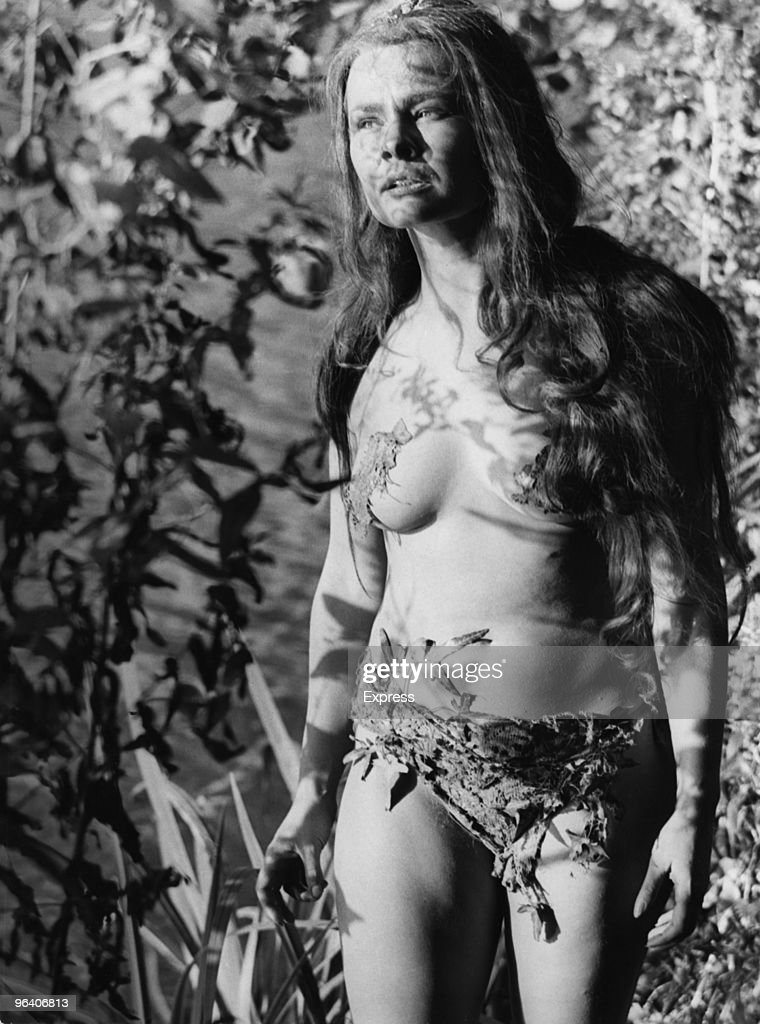 English actress Judi Dench as Titania in Peter Hall's film version of Shakespeare's 'A Midsummer Night's Dream', 1967. She is wearing a woodland bikini of faux tree bark and ivy.