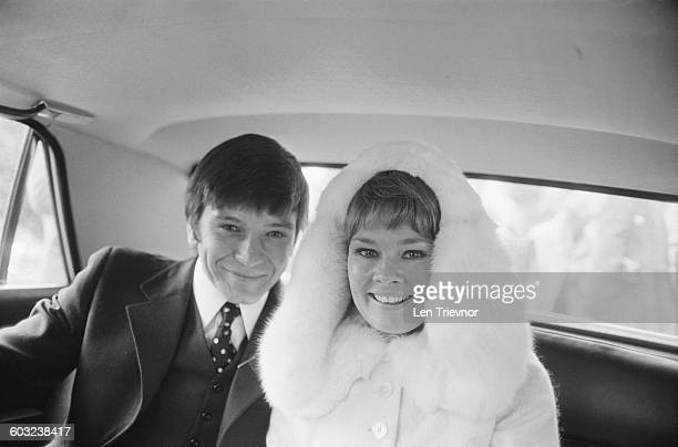 English actress Judi Dench marries actor Michael Williams at St Mary's Church Hampstead London 5th February 1971