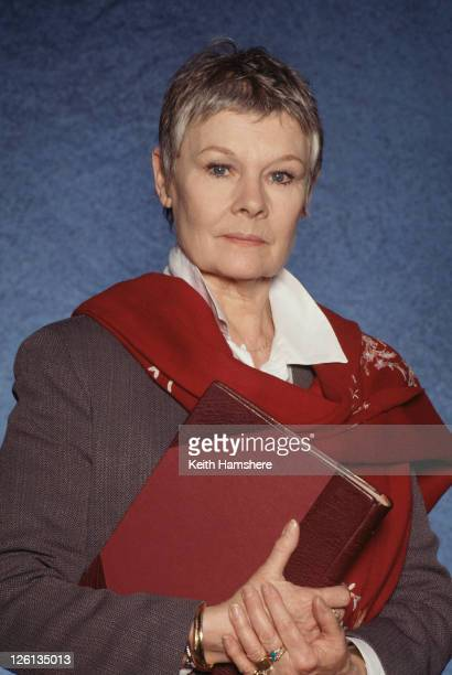 English actress Judi Dench stars as M the head of MI6 in the James Bond film 'GoldenEye' 1995