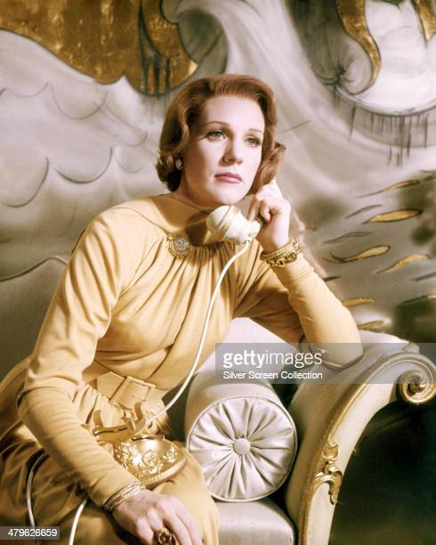 English actress Julie Andrews making a phone call in a promotional portrait for 'Star' directed by Robert Wise 1968 Andrews plays Gertrude Lawrence...