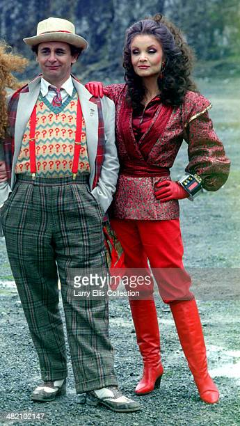 English actress Kate O'Mara with Scottish actor Sylvester McCoy on the set of the 'Time And The Rani' an episode in the BBC science fiction...