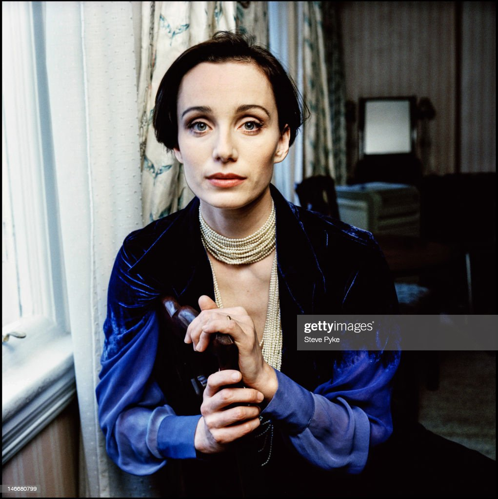 English actress <a gi-track='captionPersonalityLinkClicked' href=/galleries/search?phrase=Kristin+Scott+Thomas&family=editorial&specificpeople=203290 ng-click='$event.stopPropagation()'>Kristin Scott Thomas</a>, 19th October 1988.