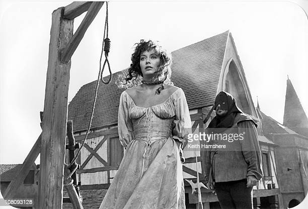 English actress LesleyAnne Down as Esmeralda in the film 'The Hunchback of Notre Dame' aka 'Hunchback' 1982 Here she faces the noose