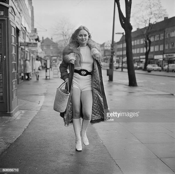 English actress Linda Hayden the day after her 18th birthday UK 20th January 1971