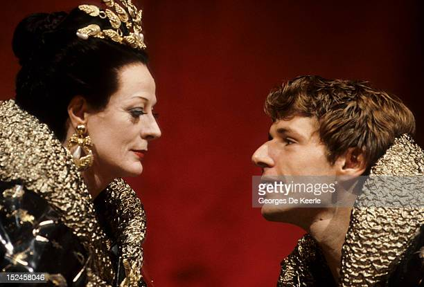 English actress Maggie Smith and French actor Lambert Wilson in Simon Callow's production of 'The Infernal Machine' by Jean Cocteau at the Lyric...