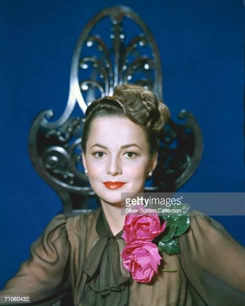 English actress Olivia de Havilland circa 1945