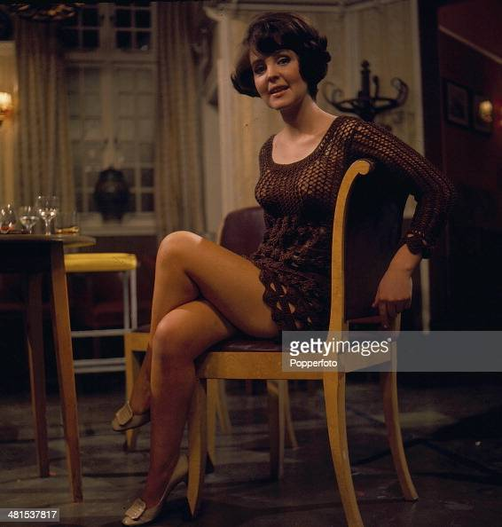1968 English actress Pauline Collins pictured sitting on a chair in a scene from the television drama series 'Armchair Theatre One Night I Danced...