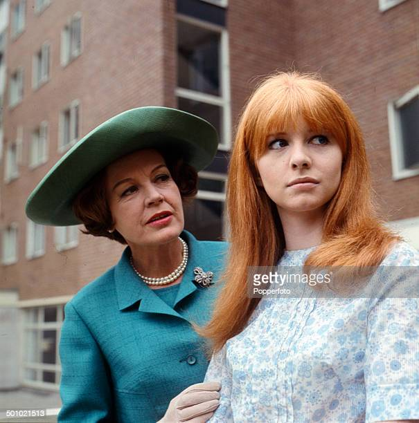 English actress Phyllis Calvert and Jane Asher pictured together in a scene from the television drama 'You Will Know Me By The Stars In My Eyes' in...