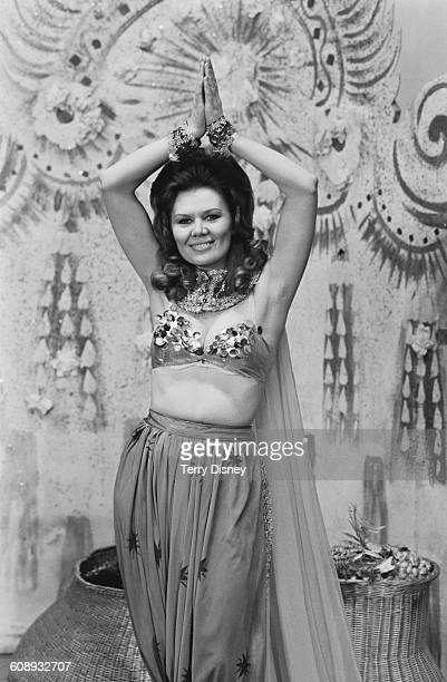 English actress Sandra Gough during rehearsals for the pantomime 'Aladdin' UK 14th December 1971