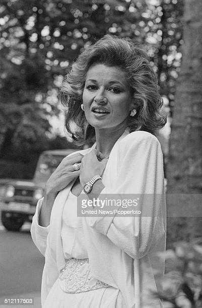 English actress Stephanie Beacham posed in London on 30th May 1986