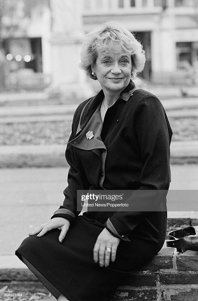 English actress <a gi-track='captionPersonalityLinkClicked' href=/galleries/search?phrase=Sylvia+Syms&family=editorial&specificpeople=235776 ng-click='$event.stopPropagation()'>Sylvia Syms</a> posed in London on 6th November 1985.