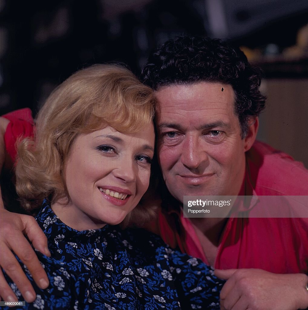 English actress <a gi-track='captionPersonalityLinkClicked' href=/galleries/search?phrase=Sylvia+Syms&family=editorial&specificpeople=235776 ng-click='$event.stopPropagation()'>Sylvia Syms</a> posed with English actor <a gi-track='captionPersonalityLinkClicked' href=/galleries/search?phrase=John+Gregson&family=editorial&specificpeople=914566 ng-click='$event.stopPropagation()'>John Gregson</a> (1919-1979) on the set of the television play 'Depart In Terror' in 1967.