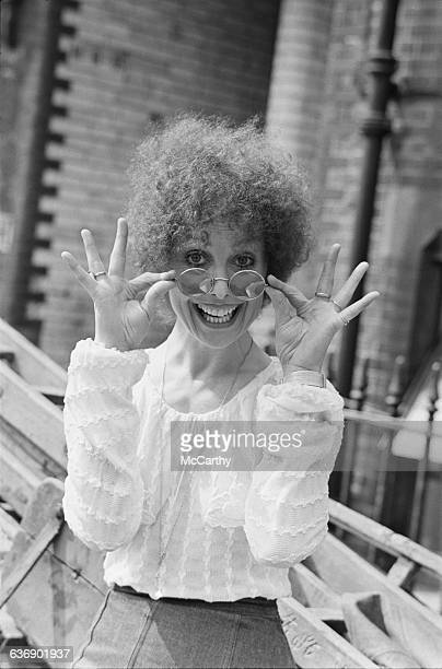English actress Una Stubbs after divulging the news that she is pregnant with her son Christian Henson UK 4th May 1971 Christian's father is actor...