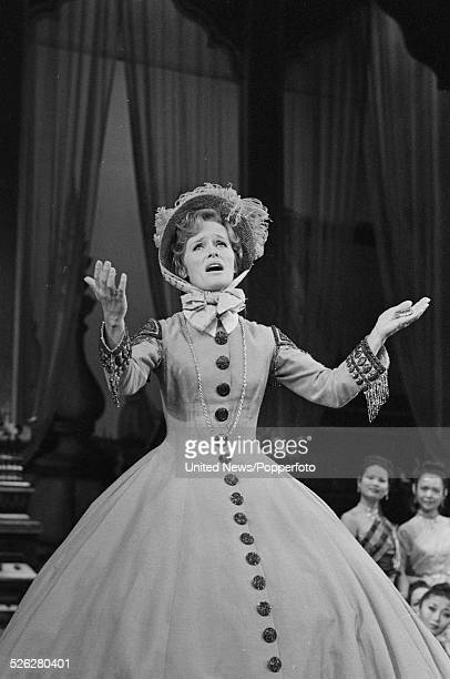 English actress Virginia McKenna pictured in character as Anna in the West End production of the musical The King and I at the Palladium in London on...