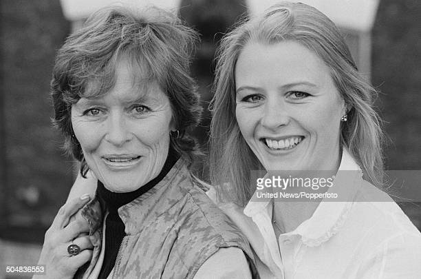 English actress Virginia McKenna posed with her daughter Louise McKenna in London in January 1984