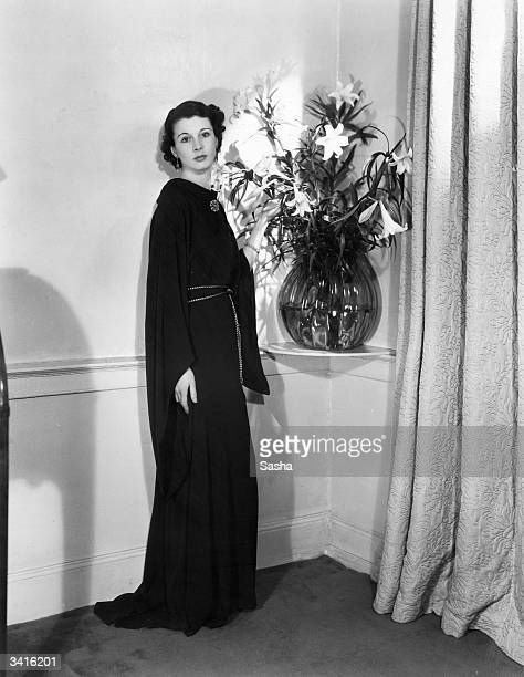 British actress Vivien Leigh at her home