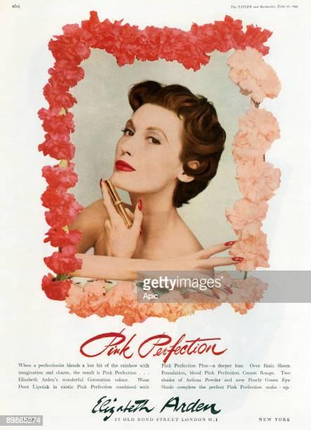English advertisement for Elizabeth Arden lipstick june 1943