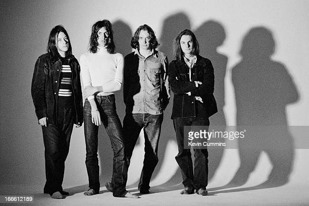 English alternative rock Verve 5th May 1993 Left to right bassist Simon Jones singer Richard Ashcroft drummer Peter Salisbury and guitarist Nick...