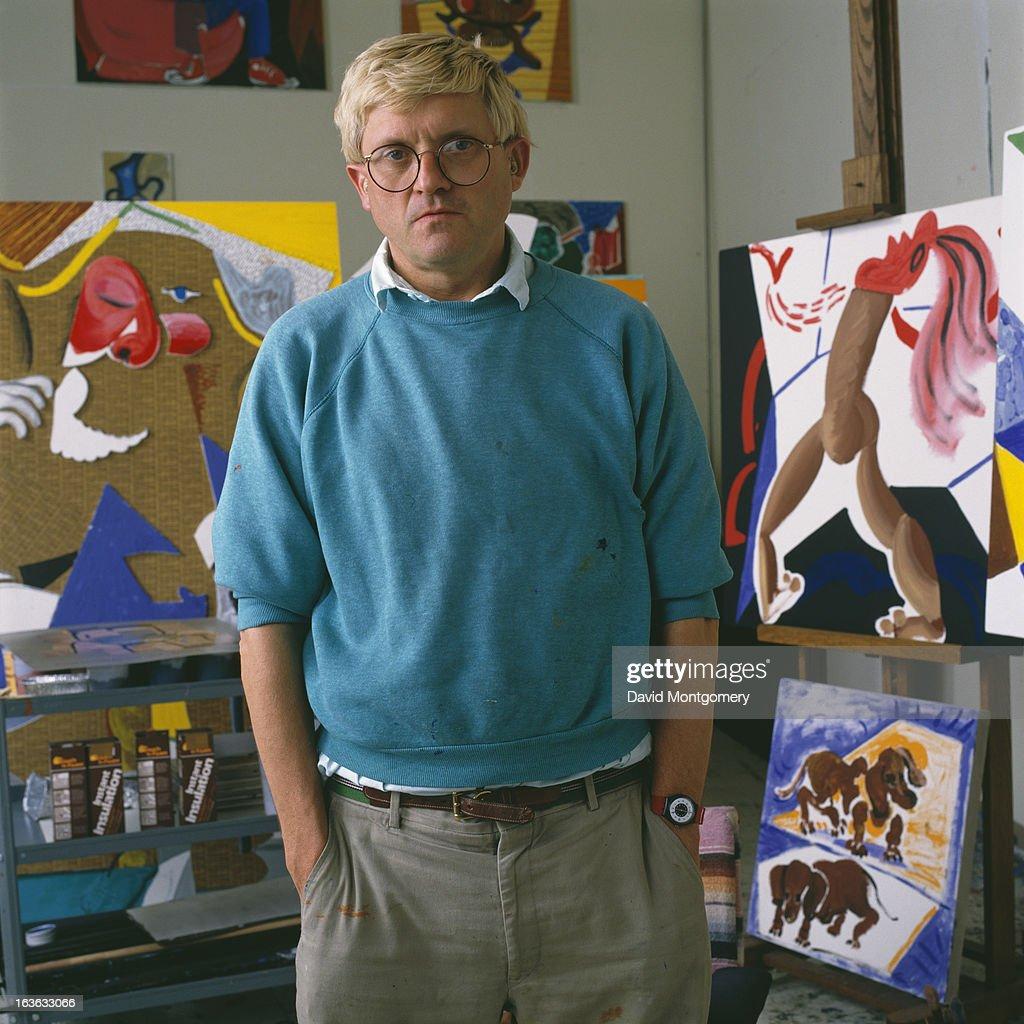 English artist David Hockney 1988