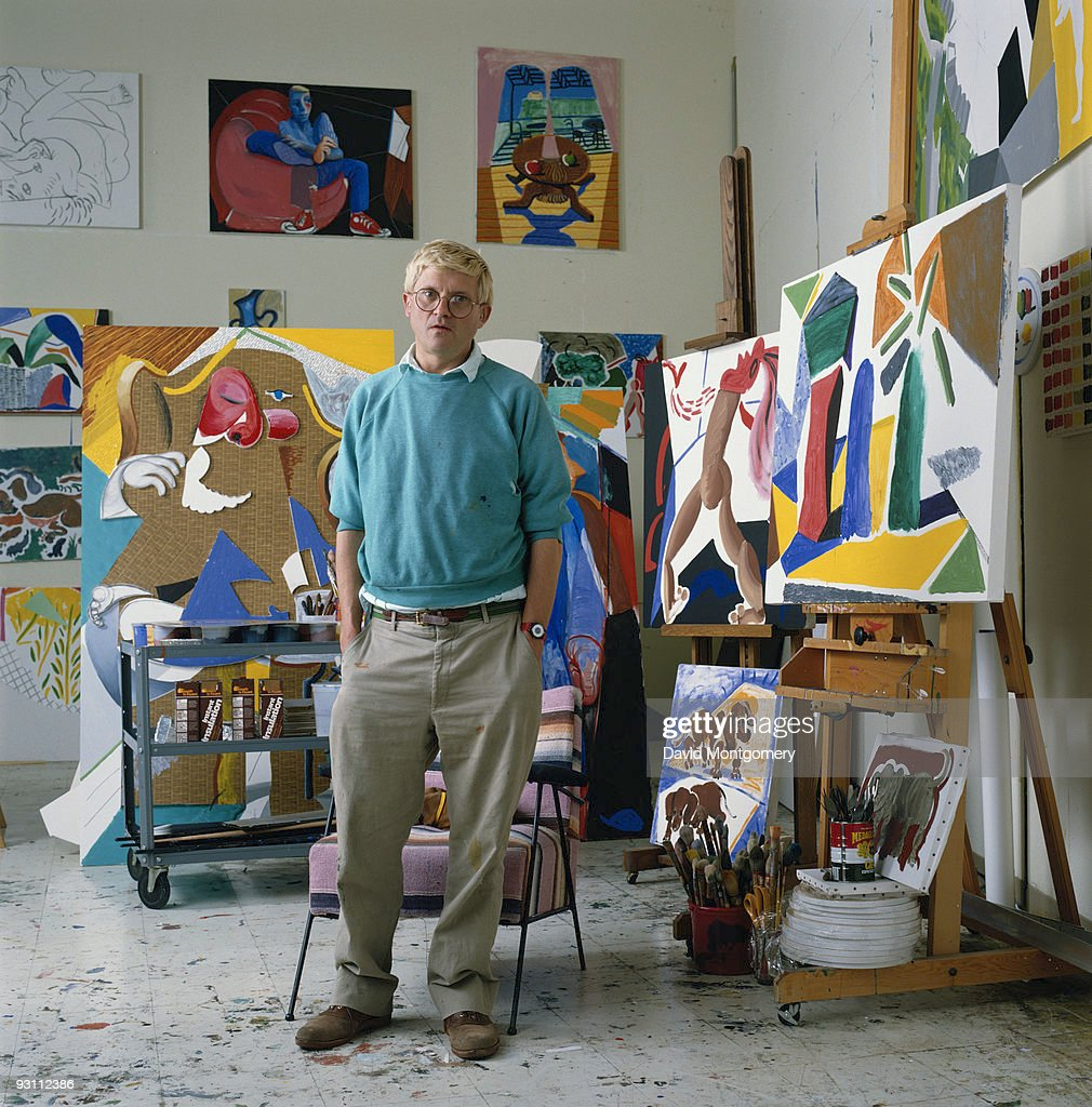 English artist <a gi-track='captionPersonalityLinkClicked' href=/galleries/search?phrase=David+Hockney&family=editorial&specificpeople=215305 ng-click='$event.stopPropagation()'>David Hockney</a>, 1988.