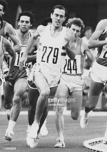 English athlete Steve Ovett wins the gold medal in the 800 metres at the Moscow Olympics 26th July 1980