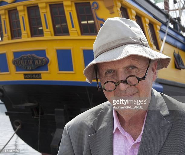 English Author Alexander McCall Smith poses during 'Etonnants Voyageurs' book festival on June 12 2011 in Saint Malo France