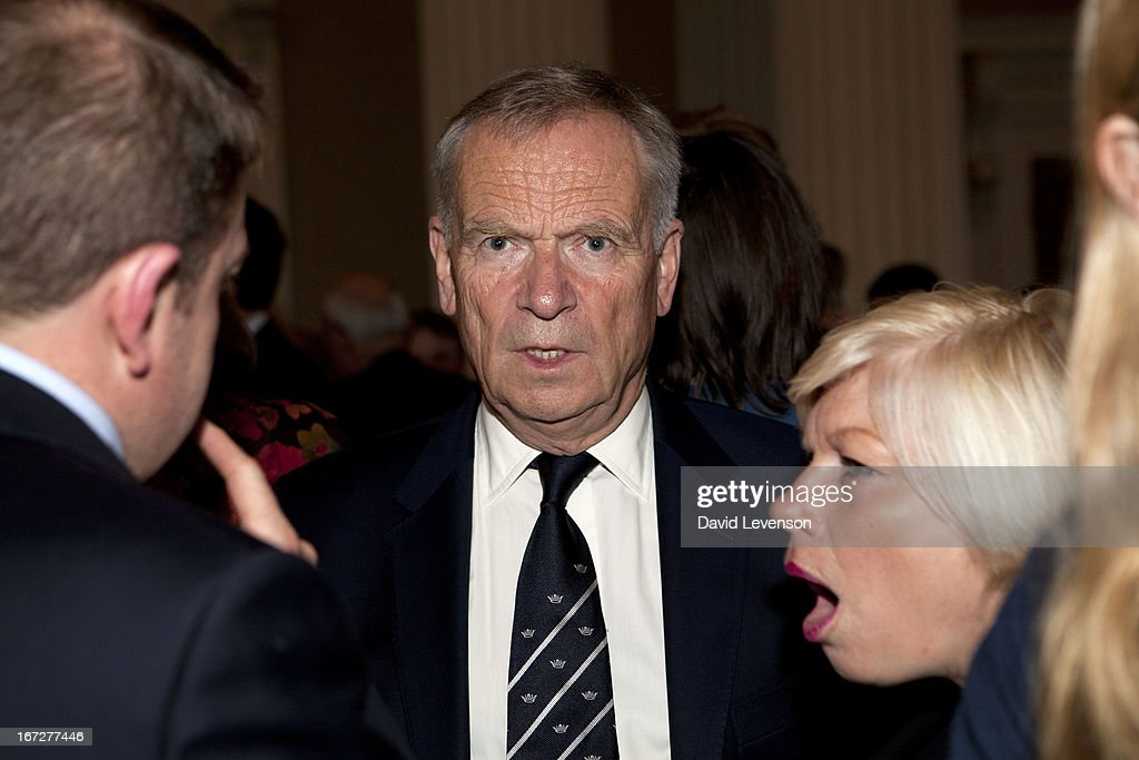 English author Jeffrey Archer, former Conservative party deputy chairman attends the launch of 'Margaret Thatcher - The Authorised Biography, Volume One: Not for Turning' by Charles Moore at Banqueting House on April 23, 2013 in London, England.
