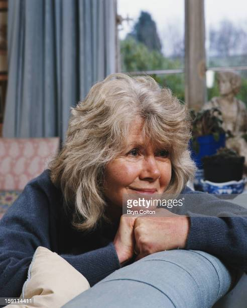 English author Jilly Cooper at her home in Bisley Gloucestershire 4th February 2000