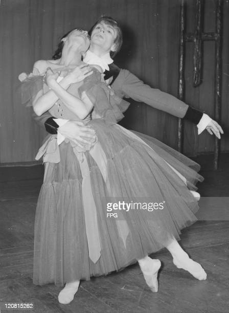 English ballerina Margot Fonteyn and Rudolf Nureyev dancing in the ballet 'Marguerite And Armand' specifically choreographed for them by Frederick...