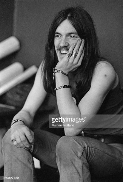 English bassist and singer Ian 'Lemmy' Kilmister of space rock group Hawkwind 17th May 1973