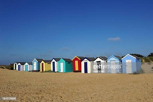 Anglais des cabanes sur la plage