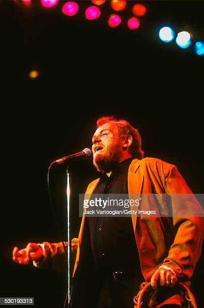 English Blues and Rock musician Joe Cocker performs onstage during at the 'Benson Hedges Blues Salutes John Lee Hooker Allstar Benefit for the Delta...