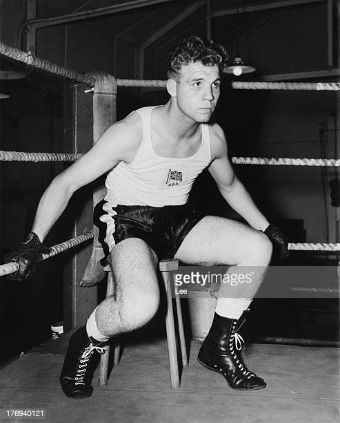 English boxer Ron Redrup in training October 1956 He has been selected to represent Great Britain in the 1956 Olympic Games in Melbourne