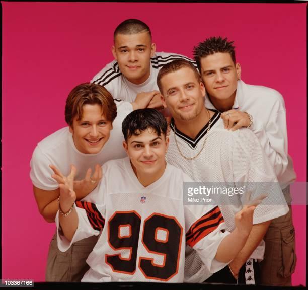 English boy band Five posed in London in 1998 Abz Love Ritchie Neville Sean Conlon Scott Robinson J Brown
