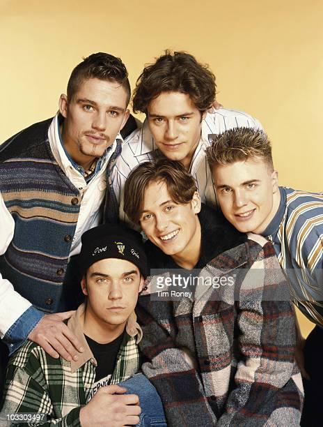 English boy band Take That circa 1993 Clockwise from top left Jason Orange Howard Donald Gary Barlow Mark Owen and Robbie Williams