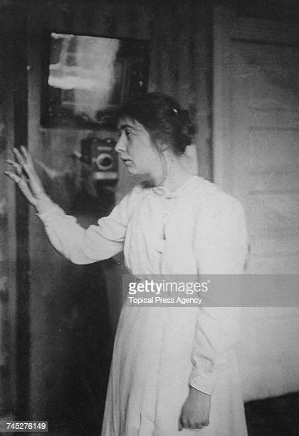 English campaigner for the suffragette movement Sylvia Pankhurst speaking circa 1910