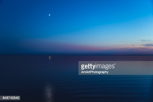 English Channel at night : Stock Photo