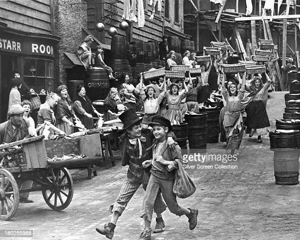English child actors Jack Wild as the Artful Dodger and Mark Lester as Oliver Twist in 'Oliver' directed by Carol Reed 1968