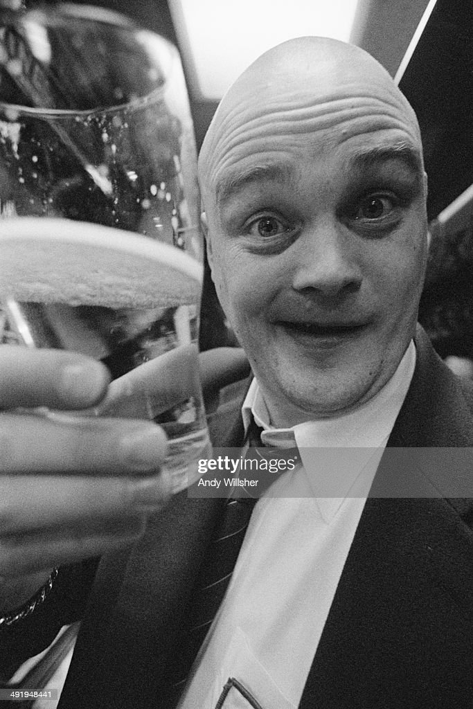 English comedian Al Murray in character as his stage persona The Pub Landlord circa 2000