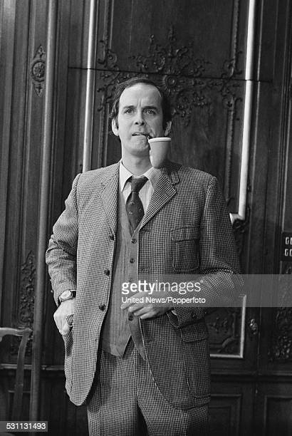 English comedian and actor John Cleese who plays the character of Arthur Sherlock Holmes in the film The Strange Case of the End of Civilization as...
