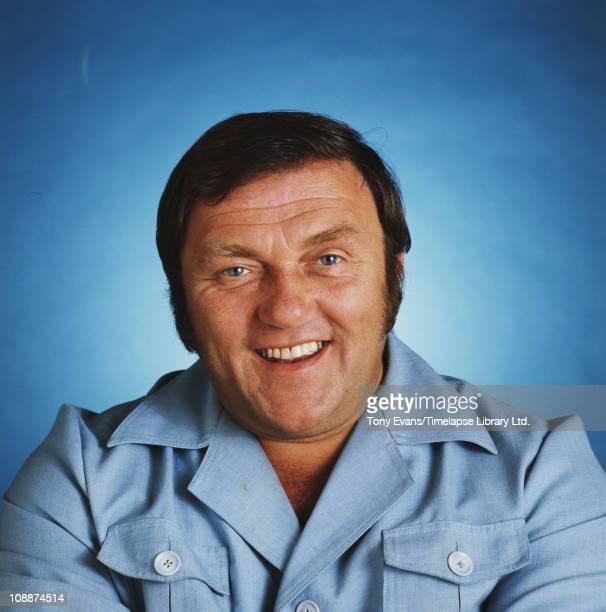 English comedian Les Dawson laughing 1977