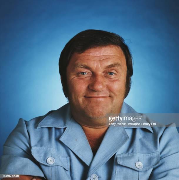 English comedian Les Dawson smiling 1977