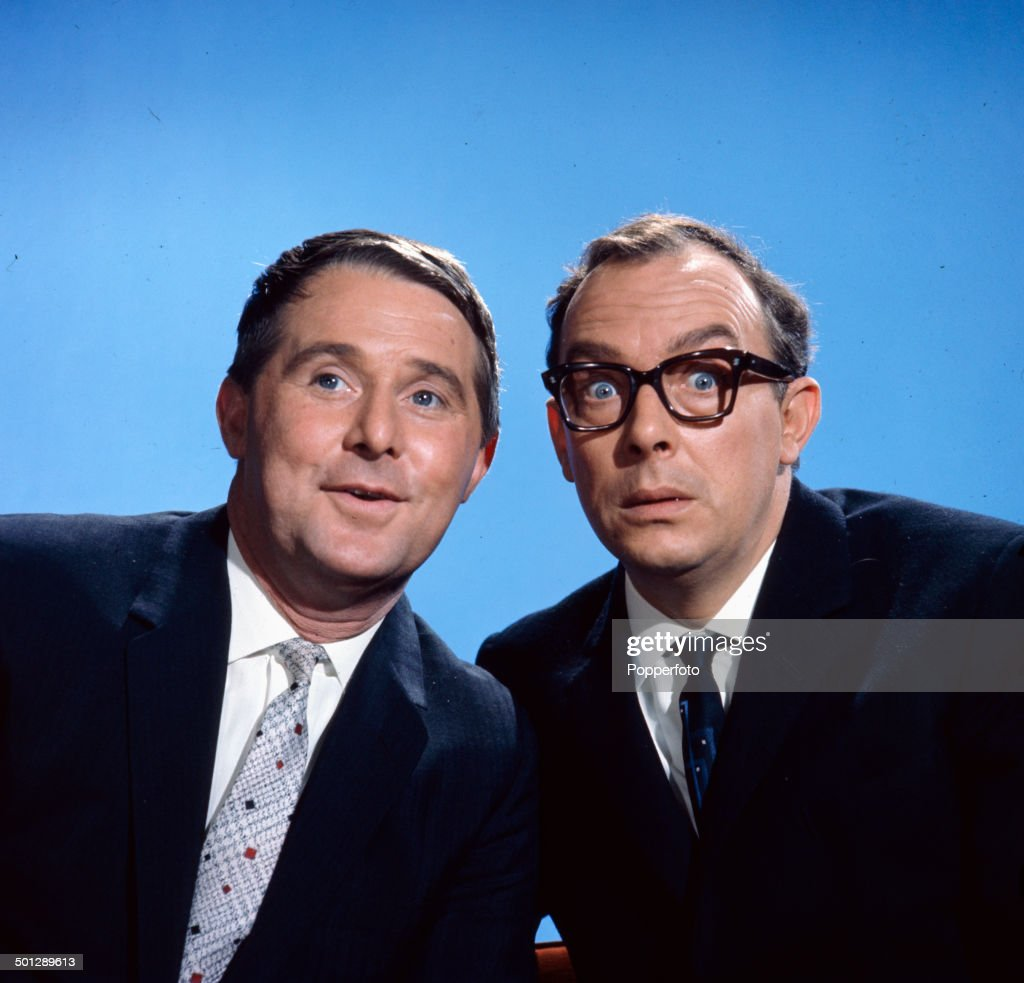 English comedians <a gi-track='captionPersonalityLinkClicked' href=/galleries/search?phrase=Eric+Morecambe&family=editorial&specificpeople=215236 ng-click='$event.stopPropagation()'>Eric Morecambe</a> (1926-1984) on right and <a gi-track='captionPersonalityLinkClicked' href=/galleries/search?phrase=Ernie+Wise&family=editorial&specificpeople=211147 ng-click='$event.stopPropagation()'>Ernie Wise</a> (1925-1999) of the comedy duo Morecambe and Wise posed together in 1966.