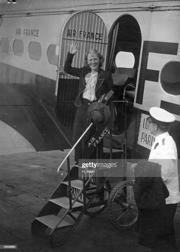 English comedienne and singer Gracie Fields at Croydon Airport, about to leave for a holiday in Capri.