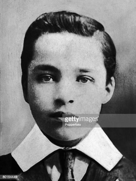 English comedy actor Charlie Chaplin as a boy 1901