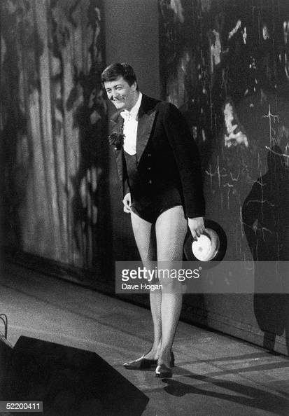 English comic Stephen Fry hosts the comedy revue 'Hysteria 3' in support of the Terrence Higgins Trust 1991